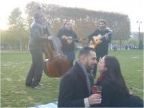wedding photo - Musical Surprise Proposal in Paris - French Wedding Style