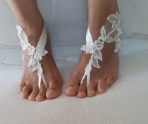 wedding photo - bridal accessories,ivory lace, wedding sandals, shoes, free shipping! Anklet, bridal sandals, bridesmaids, wedding gifts.......