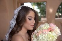 wedding photo - Mantilla Veil with Allencon Lace