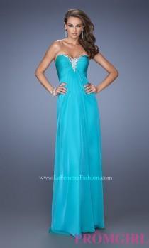 wedding photo - La Femme Long Open Back Strapless Sweetheart Gown - Brand Prom Dresses