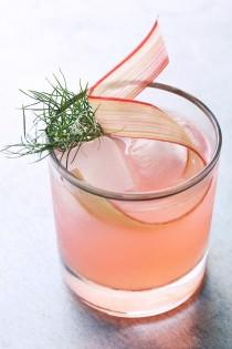 wedding photo - Rhubarb, Fennel & Vermouth Cocktail