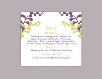 wedding photo - DIY Wedding Details Card Template Editable Text Word File Download Printable Details Card Purple Details Card Green Information Cards