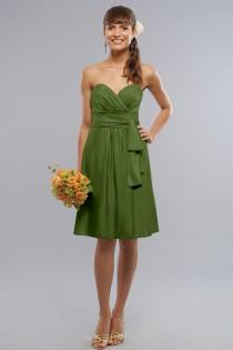 wedding photo - Liz Fields Short Charmeuse Bridesmaid Dress 255 - Crazy Sale Bridal Dresses
