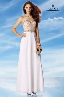 wedding photo - Alyce Paris 6454 Beaded Special Occasion Dress - Brand Prom Dresses