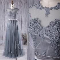 wedding photo - 2016 Long Mesh Bridesmaid Dress, Lace Illusion Sweetheart Wedding Dress, A Line Prom Dress, Soft Tulle Formal Dress Floor Length (XS013)