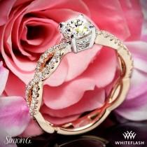 wedding photo - 18k Rose Gold Simon G. MR1596 Fabled Diamond Engagement Ring