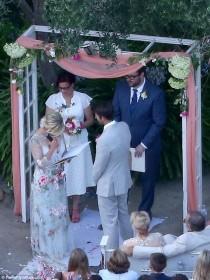 wedding photo - Jennie Garth Ties The Knot With David Abrams In Ranch Wedding