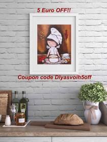 wedding photo - Kitchen print Food print Digital Cook art wall decor Printable art Cook print kitchen decor Kitchen art  prints Digital art A3 SIZE PRINT