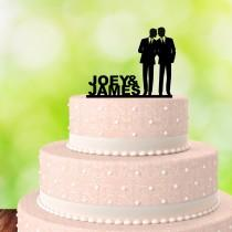 wedding photo - Gay Cake Topper - His and His - Gay Wedding Cake Topper - Same Sex Wedding - Same Sex Cake Topper - Mr & Mr - Gay Couple - Two Men