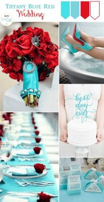 wedding photo - Tiffany Blue And Red Wedding Inspiration