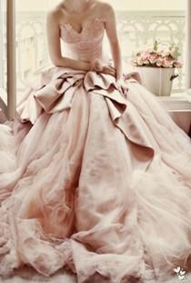 wedding photo - 24 Stunning Peach & Blush Wedding Gowns You Must See