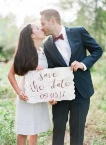 wedding photo - The Cutest Travel Themed Engagement Ideas {Bowtie And Bloom Photography}