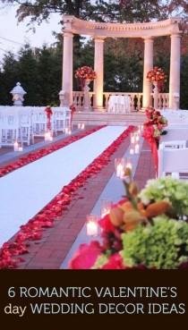 wedding photo - 6 Romantic Valentine's Day Wedding Décor Ideas