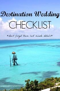 wedding photo - Your Last-Minute Destination Wedding Checklist