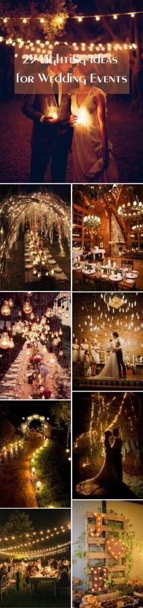 wedding photo - 25 Stunning Wedding Lighting Ideas For Your Big Day