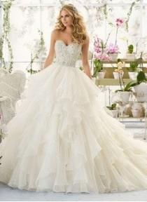 wedding photo - Strapless Sweetheart Wedding Dress