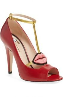 wedding photo - 'Molina' T-Strap Peep Toe Pump by Gucci