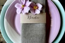 wedding photo - Kraft Wedding Napkin Place Cards, Wedding Place Cards, Kraft Place Cards, Personalised Place Cards, Place Markers