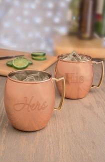 wedding photo - Moscow Mule Copper Mug Set