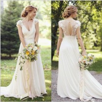wedding photo - Chiffon Lace Wedding Dress