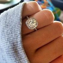 wedding photo - Asscher Cut Diamond Ring