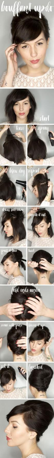 wedding photo - Bouffant Updo Hair Tutorial