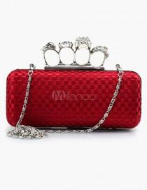 wedding photo - Finger Ring Clutch Handbag