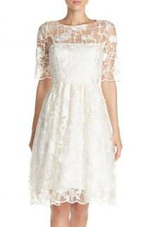 wedding photo - Embroidered Fit & Flare Dress