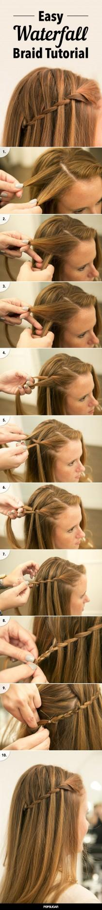wedding photo - Waterfall Braid DIY