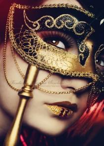 wedding photo - Masquerade Mask Lashes