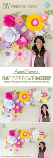 wedding photo - Full - Giant Paper Flower Backdrop (Patterns And Video Tutorials)