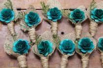 wedding photo - Turquoise Boutonniere