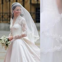 wedding photo - kate middleton veil, inspired, Princess kate veil,  Elbow length veil , 1.5M Veil, Wedding Veil, bridal Veil, Lace Veil,  LA15011