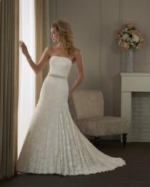 wedding photo - Bonny Classic 400 Lace Fit and Flare Wedding Dress - Crazy Sale Bridal Dresses