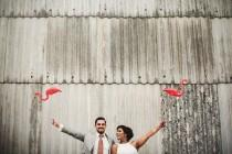 wedding photo - Miami Kitsch Mixed With Bollywood Beach And Flamingos Wedding By Matt Parry Photography And Knot And Pop Wedding Planners: Boho Weddings - UK Wedding Blog