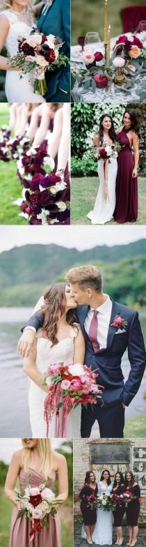 wedding photo - Wedding Inspiration For Plums And Pinks