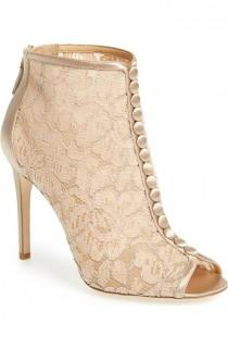 wedding photo - 'Nerina' Lace Bootie (Women)