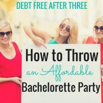 wedding photo - How To Throw An Affordable Bachelorette Party - Debt Free After Three