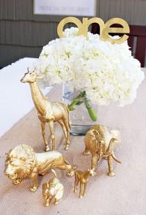 wedding photo - Stylish Golden Safari First Birthday Party