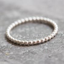 wedding photo - Dots - stacking ring, Sterling silver stackable ring