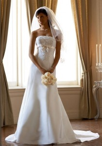 wedding photo - Cheap 2014 New Style David's Bridal Collection Style T9395 Wedding Dress - Cheap Discount Evening Gowns