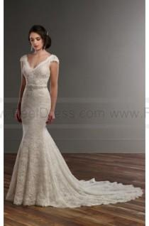 wedding photo - Martina Liana Vintage Lace Wedding Dress With Cap Sleeves Style 809