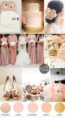 wedding photo - Blush Rose Gold And Peach Wedding Colours { Sophisticated And Beautiful, Elegant Colours }