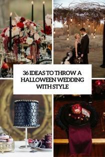 wedding photo - 36 Ideas To Throw A Halloween Wedding With Style - Weddingomania