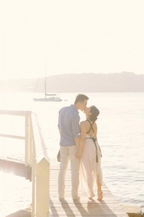 wedding photo - Sweet Sun-drenched Afternoon Engagement - Polka Dot Bride