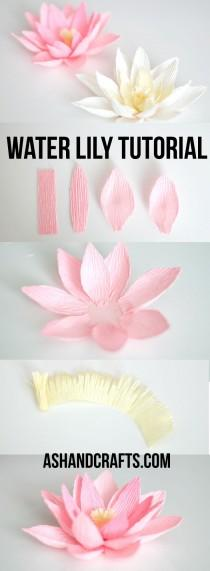 wedding photo - Crepe Paper Water Lily