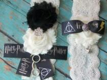wedding photo - Harry Potter Inspired Wedding Garter,Garter,Hogwarts House,Ravenclaw Lace Garter,Garter,Plus Size Garter,Harry Potter Fan,Geeky Wedding