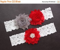 wedding photo - ON SALE Ohio State Buckeyes Wedding Garter Set, Ohio State University Garter, Ohio State Buckeyes Bridal Garter Set, White Lace Wedding Gart