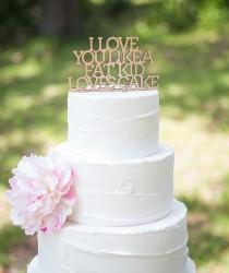 wedding photo - Cake Topper for Wedding Funny Cake Topper in Glitter or Rustic Wood, Glitter Wedding Cake Topper Engagement Bridal Shower (Item - LLF800)