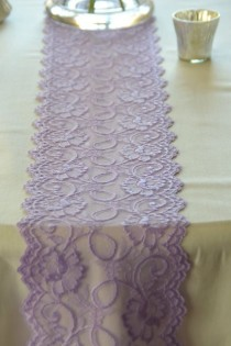 "wedding photo - Lilac / Lavender  Lace Trim 7"" Wide  Lace Trim 72""/ Table Runner LaceTable Runner Lace Apparel Lace DIY Wedding / Baby Shower Easter Decor"